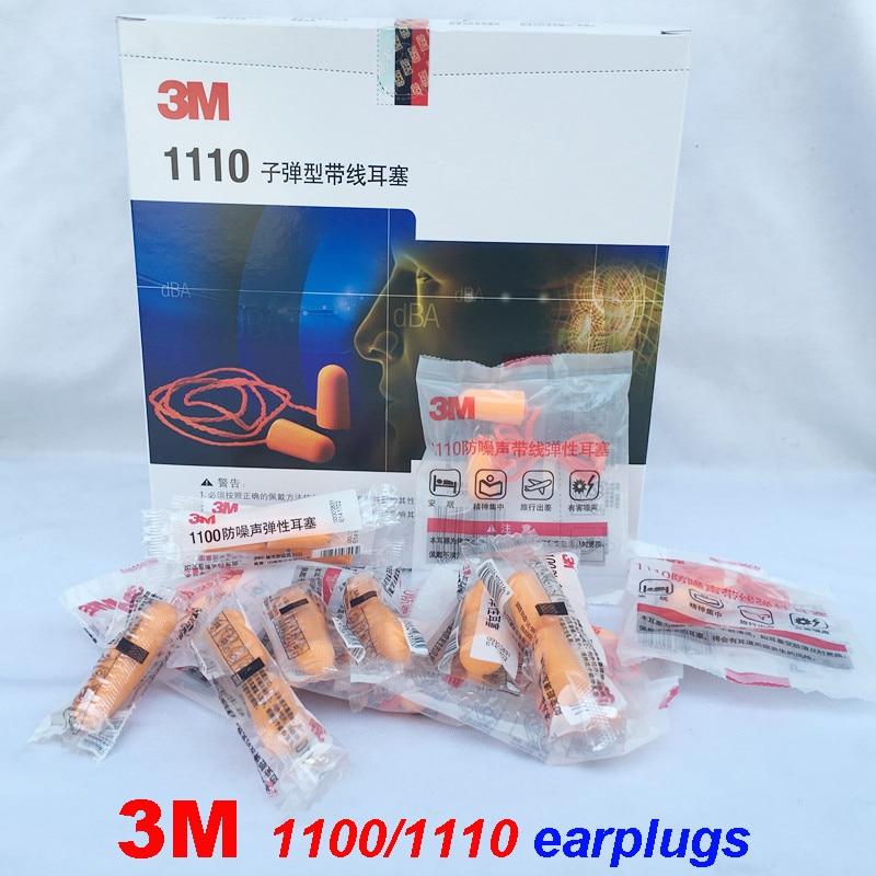 3M 1100/1110/1250/1270 Earplugs 5 Packs/10PCS Special Sales Original Earplugs Noise Prevention Protective Earplugs