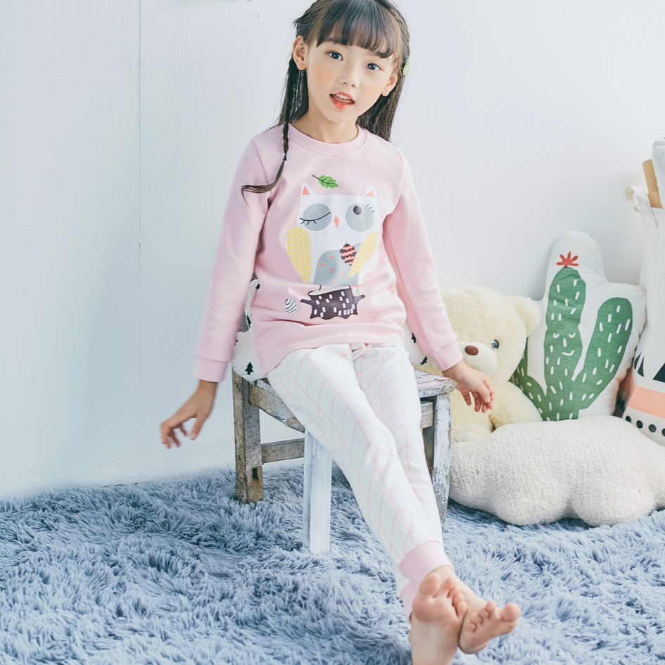 Korean Style Owl Pattern Pajamas sets 100% Cotton Boys and Girls Sleepwear  Casual home clothing suit AC77-in Pajama Sets from Mother   Kids on ... b59fea6f7
