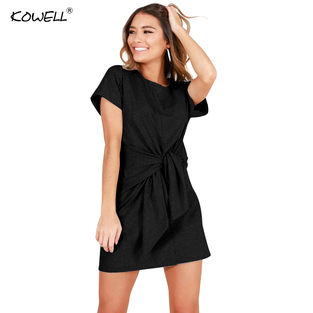 Kowell 2018 New Summer Women Dress Mini Sexy Bandage Bodycon Dress Vestidos Short Sleeve Casual Dresses Sun Dress Femme