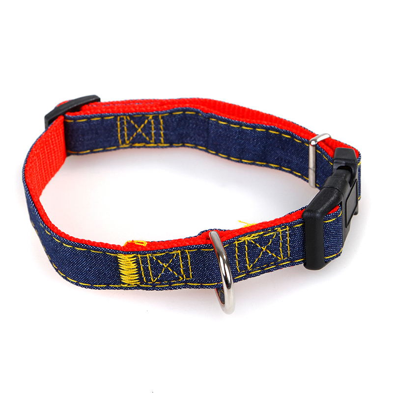 Pet Dog Cat Collar Clip Buckle Jean Collar Outdoor Sports Safety Lead Leash For Small Medium Dogs Chihuahua Cats S M L XL Strong (4)