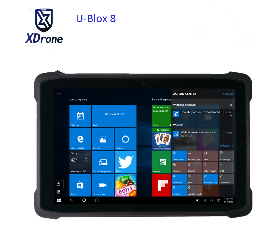2019 Original K11H Windows 10 Tablet PC 10.1 Inch UBlox M8 GPS GNSS Mapping High Precision Glonass Gps Waterproof 3G HDMI WIFI