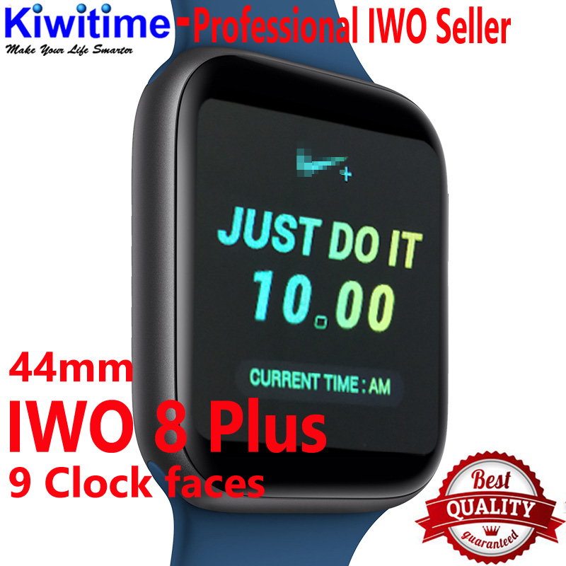 KIWITIME Bluetooth Smart Watch IWO 8 Plus martwatch 1 1 44mm case for ios apple iPhone