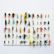 168pcs Dry and Wet Fly Lures with Fly Plastic Box Trout Lures Fly Fishing Bait Fake Lure Fishing Tackle Soft Lure