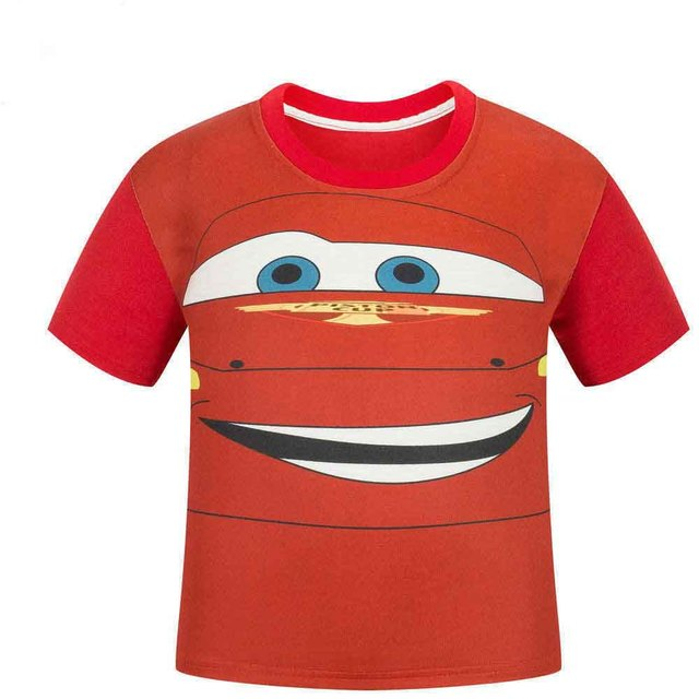 Детские летние с коротким рукавом майка Автомобили улыбка мальчик и девочка футболки