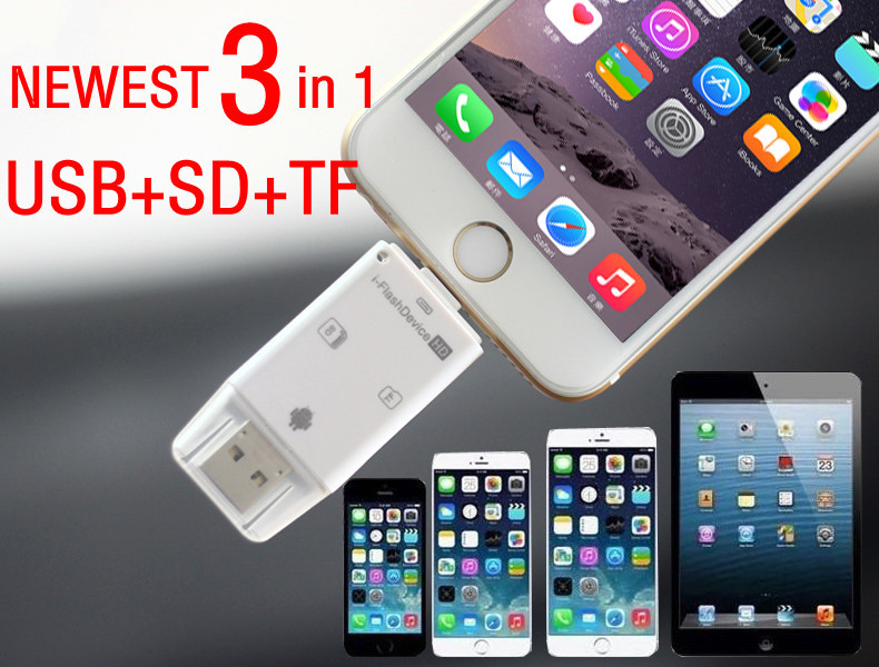 timeless design 205cc 842bd Aliexpress.com : Buy 3in1 USB Micro USB SD TF SDHC Card Reader for ...