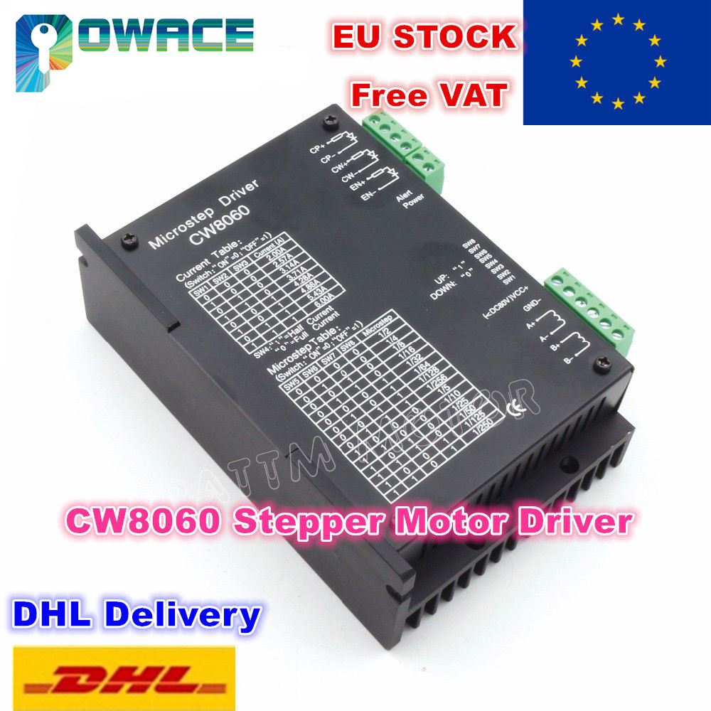 EU Delivery CW8060 CNC Stepper Motor Driver Controller 80VDC 6A 256 Microstepfor CNC Router Milling