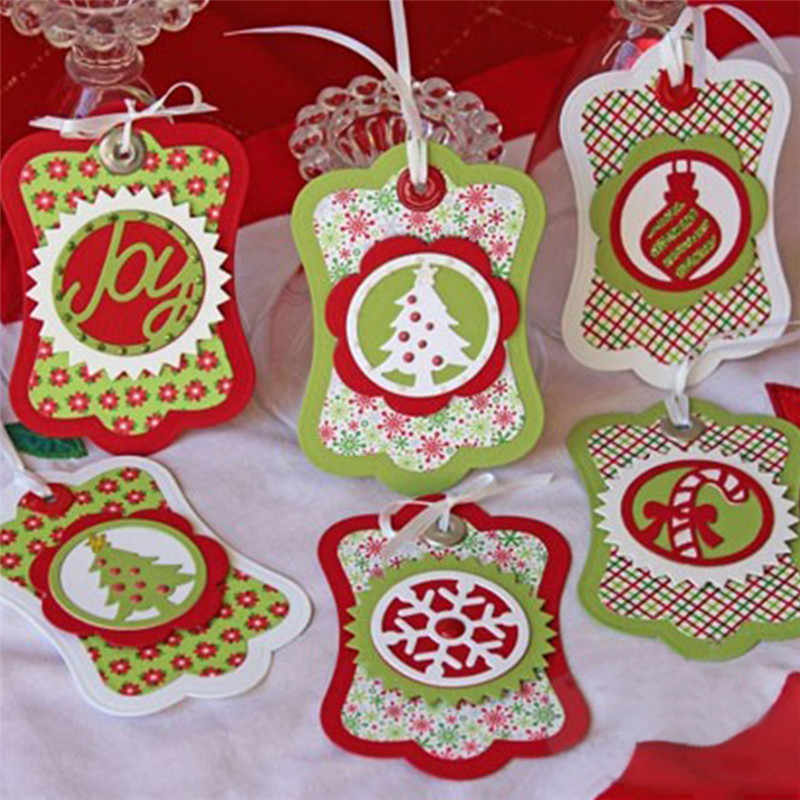 Naifumodo Christmas Treat Toppers Die Cap Metal Cutting Dies Craft Embossing Stencil Decoration Scrapbooking DIY for Graduation