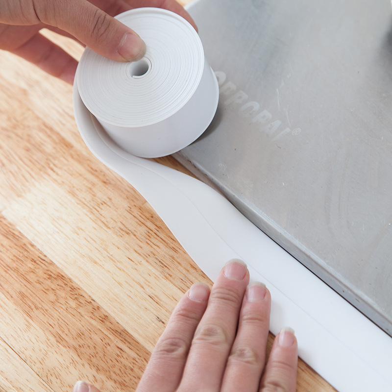 New Waterproof Bathroom Shower Sink Bath Sealing Strip Tape White PVC Self Adhesive Wall Sticker for Bathroom Kitchen 1 roll pvc material kitchen bathroom wall sealing tape waterproof mold proof adhesive tape 3 2mx2 2cm