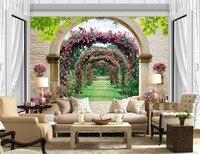 3d wallpaper for room European style rose window photo 3d wallpaper customized wallpaper for walls