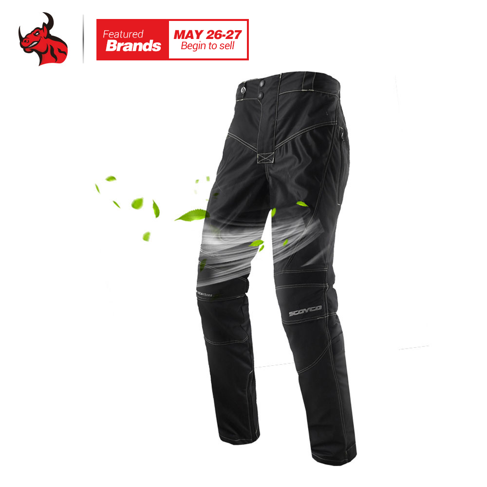 SCOYCO мотоциклетные штаны Для мужчин дышащие мото брюки Мотокросс Брюки мотоциклов Брюки защитные брюки Pantalon Moto
