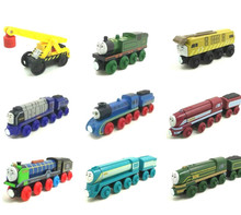 Caitlin Connor Hiro Emily Gordon Wooden Locomotive Train Compatible with Brio Wooden Train Railway Model Car for Children wooden thomas train t070w hiro thomas and friends trackmaster magnetic tomas truck car locomotive engine railway toys for boys