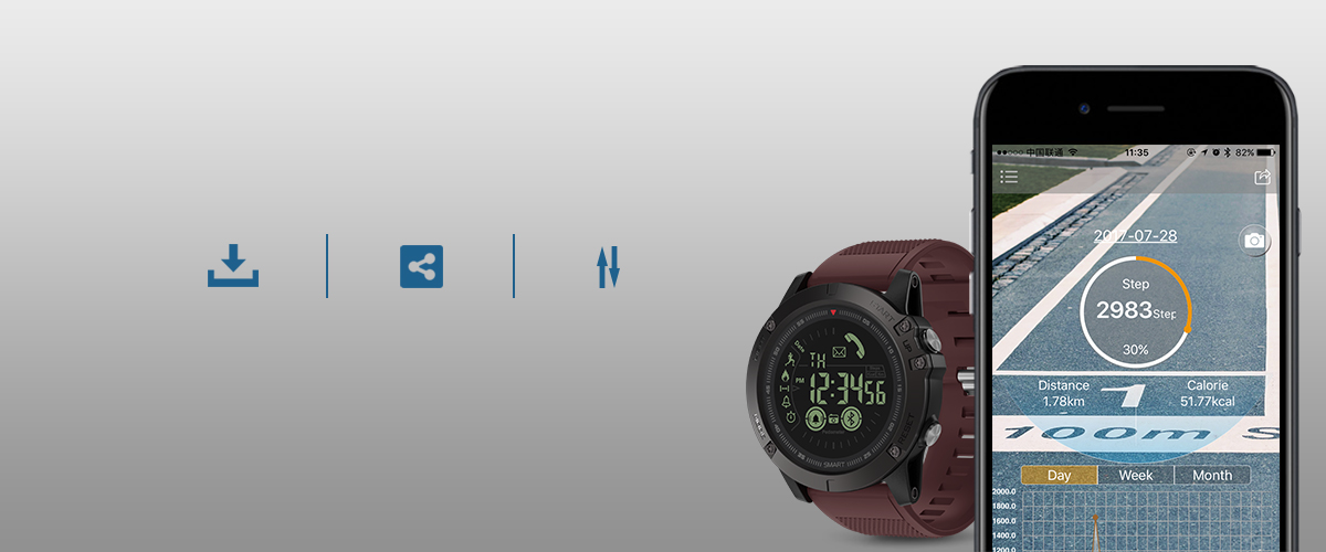 Rugged Smartwatch 24h Time 11