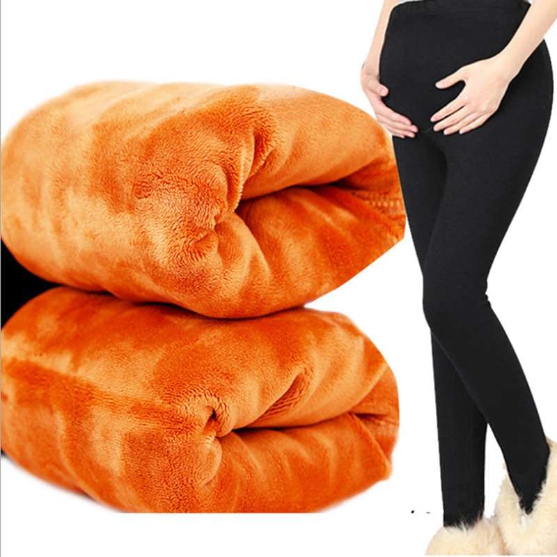Winter clothes for pregnant women maternal pants thickening velvet pregnant women trousers pregnant women leggings warm