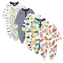 6PCS/LOT Baby Rompers 2019 Short Sleeve 100%Cotton overalls Newborn clothes Roupas de bebe boys girls jumpsuit&clothing