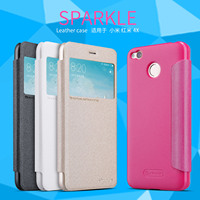 100 Original Nillkin Sparkle Series Leather Case For Xiaomi Redmi 4X High Quality Flip Cover For