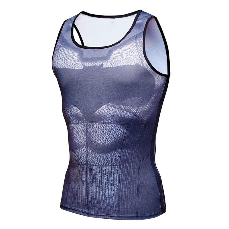 Batman VS Superman 3D Printed Sleeveless Shirt Casual Fashion G y m Tank Top Men bodybuilding Fitness G y m Clothing