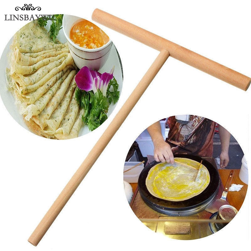 Linsbaywu Новый, 2 предмета Кухня Инструменты деревянный шпатель stick блинница блинов