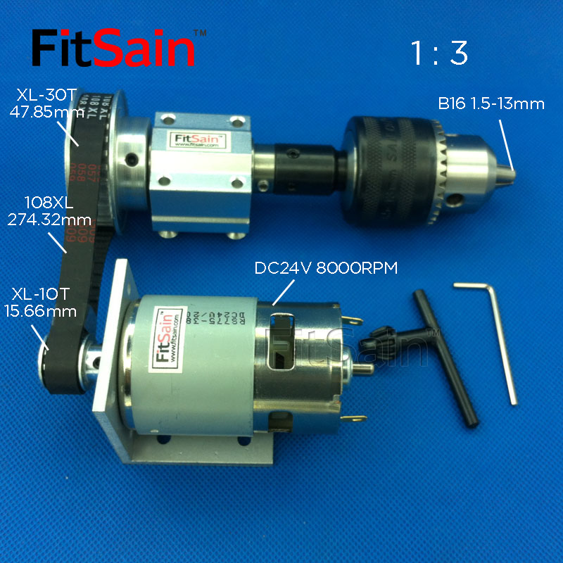 FitSain XL 1:3 775 B16 DIY bench saw spindle precision micro table saw transmission bearing seat small lathe micro spindle-in Power Tool Accessories from Tools    1
