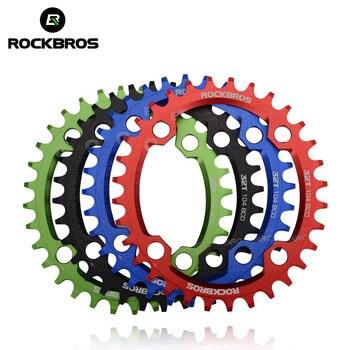 ROCKBROS Овальный Круглый велосипед Crank & Chainwheel 104BCD широкий узкий цепи кольцо 32 T/34 T/36 T/38 T система для горного велосипеда запчасти для велосипеда
