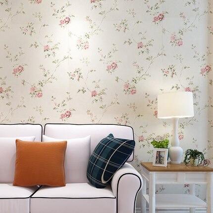 Rose papier peint chambre salon 3D TV canapé fond décoration mur papier rouleau