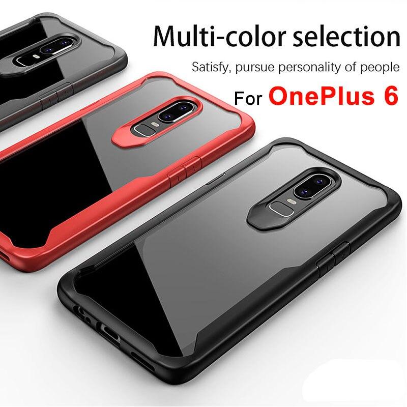 Galleria fotografica Oneplus 6 Case Cover Anti-knock Clear Phone Case For OnePlus 6 Soft TPU Silicone Back Cover Protective Case For One plus 6 Six