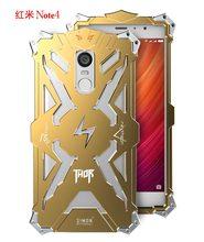 Zimon case para hongmi nota4 armor prueba de choques de aluminio del metal thor ironman protectora cajas del teléfono cubiertas para xiaomi redmi note 4