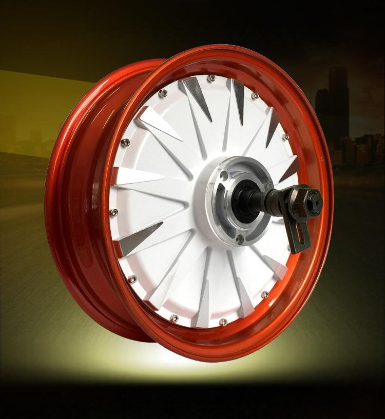 DC48V 2000W 45KM / H 12 inch 35H high power motor electric car wheel motor DIY accessories