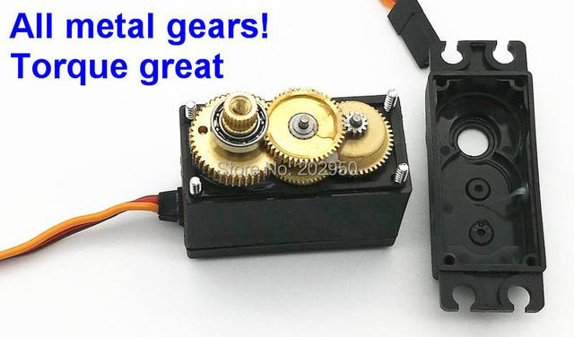 US $11 78 |2pcs/lot Servo 360 Degree Continuous Rotation Servo MG995 Metal  Gear Arduino Servo Digital Servo High Torque For Robot DIY-in Parts &