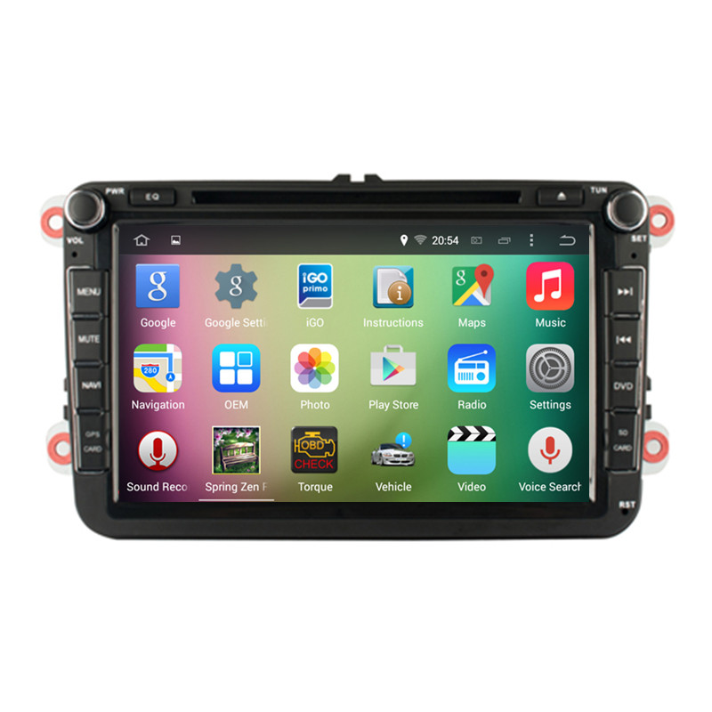8″ Android 5.1.1 Quad Core Car Central Multimedia Head Unit for Volkswagen VW Polo Golf 5 6 Passat Jetta Tiguan Touran Superb 3G