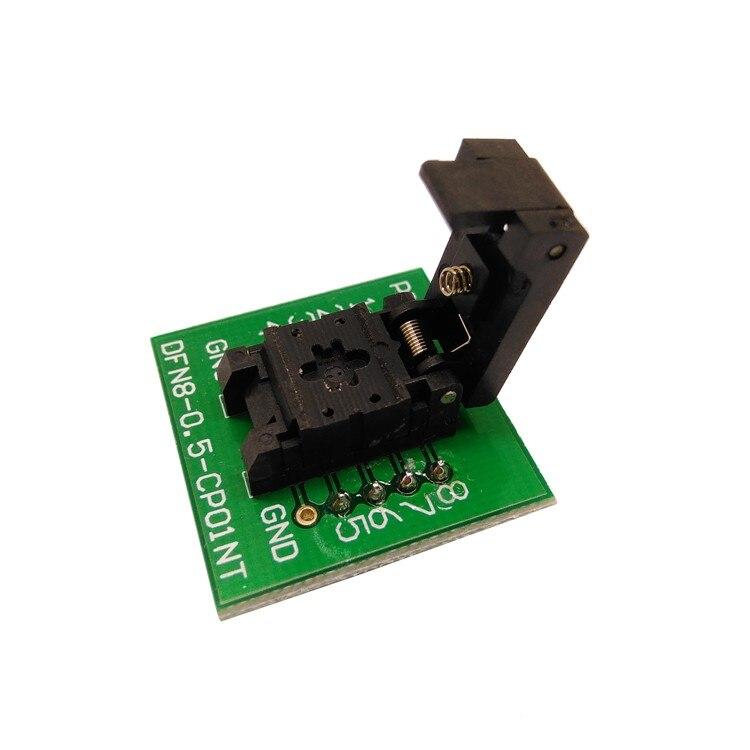 QFN8 DFN8 WSON8 prise de programmation Pogo broche sonde adaptateur broche pas 0.5mm IC taille du corps 2x3mm programmeur de prise de Test à clapet