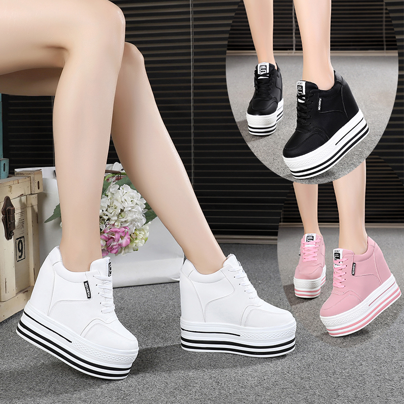 PENGY Womens Buckle Shallow Mouth Casual Shoes High-Heel Wedge Heel Female Sandals Sneakers Sports Matching