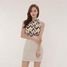 32a71fa220 2018 Summer Patchwork Slim Waist Dress Print Sleeveless Bandage Elegant Work  Business Dresses Spring Soft Women Dress femme
