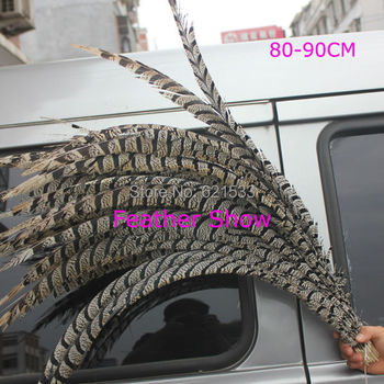 10pcs/lot!Natural Center Lady Amherst Pheasant Tail Feathers 30-35''80-90cm Long for Accessories