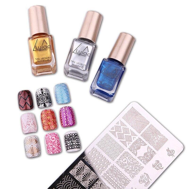 Candy Color Nail Polish: 6ml LULAA Professional Nail Stamping Print Polish Sweet