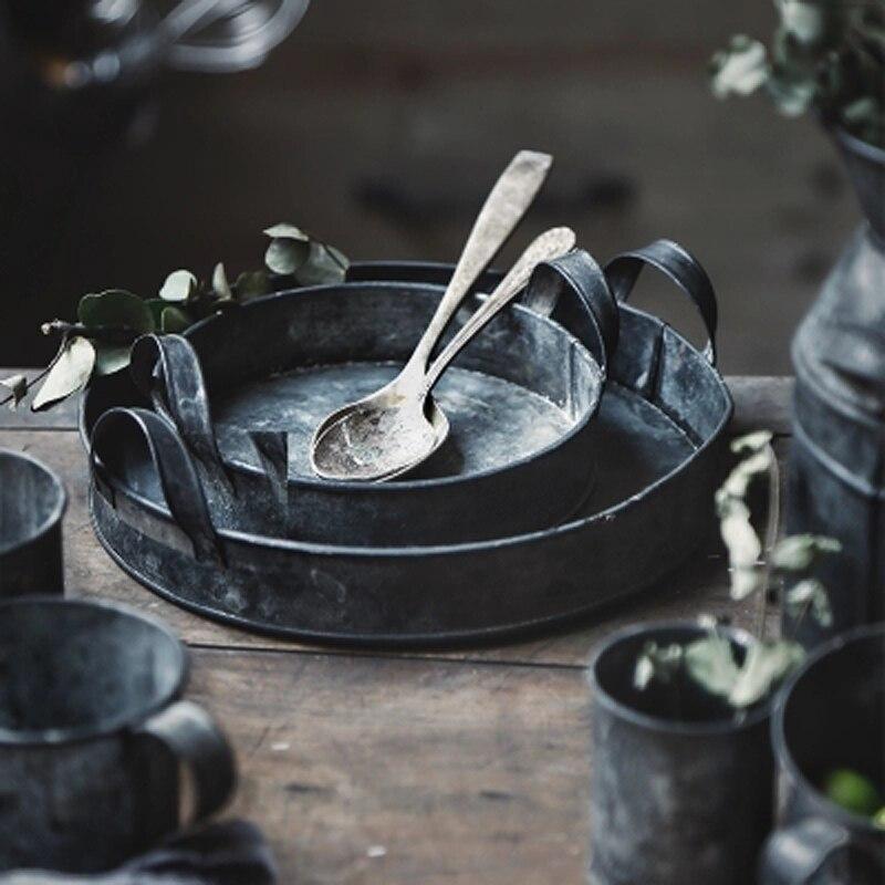 Vintage Wrought Iron Storage Tank Handmade antique galvaninzed zinc kitchen storage bins set cup set
