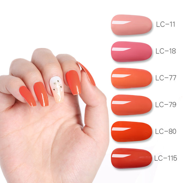 LILYCUTE Coral Red Orange Nail Art Gel 5ml