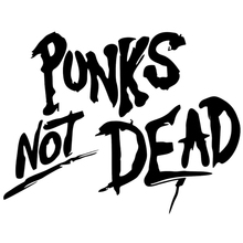 CS-1143#19*14cm Punks Not Dead funny car sticker vinyl decal silver/black for auto stickers styling