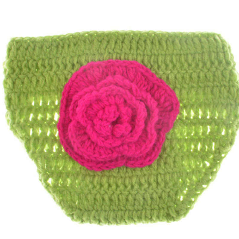 Detail Feedback Questions About Flower Design Crochet Baby Diaper