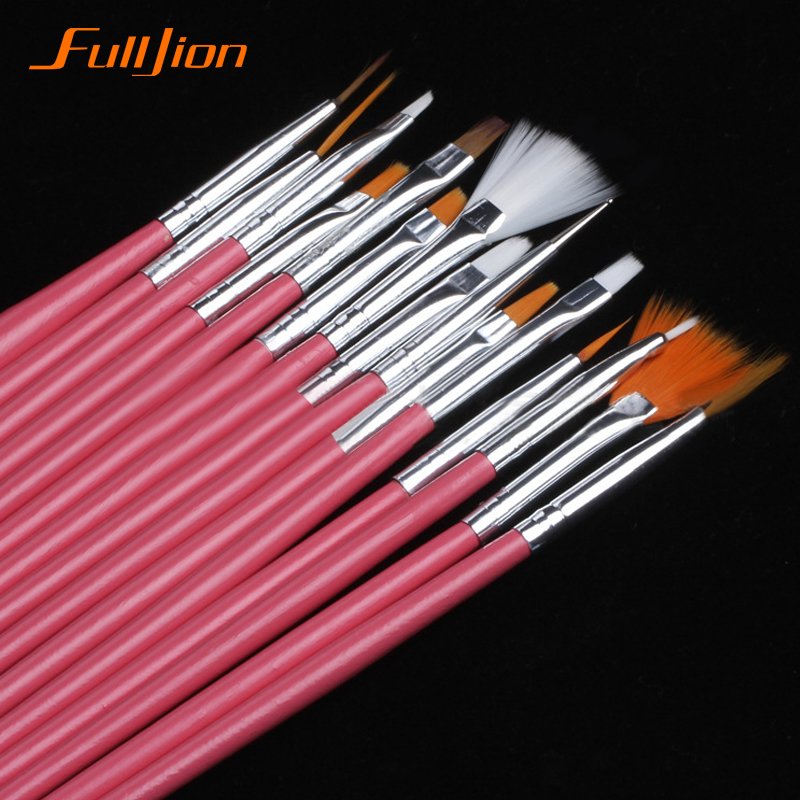 Fulljion 15 7pcs set nail art polish painting draw pen for Set painting techniques