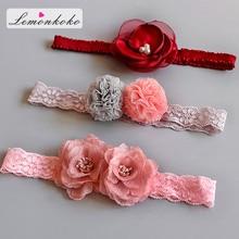 [Lemonkoko] Infant Rose Flower Headband Baby Girl Newborn Princess Elastic For Children Kids Hairband Accessories