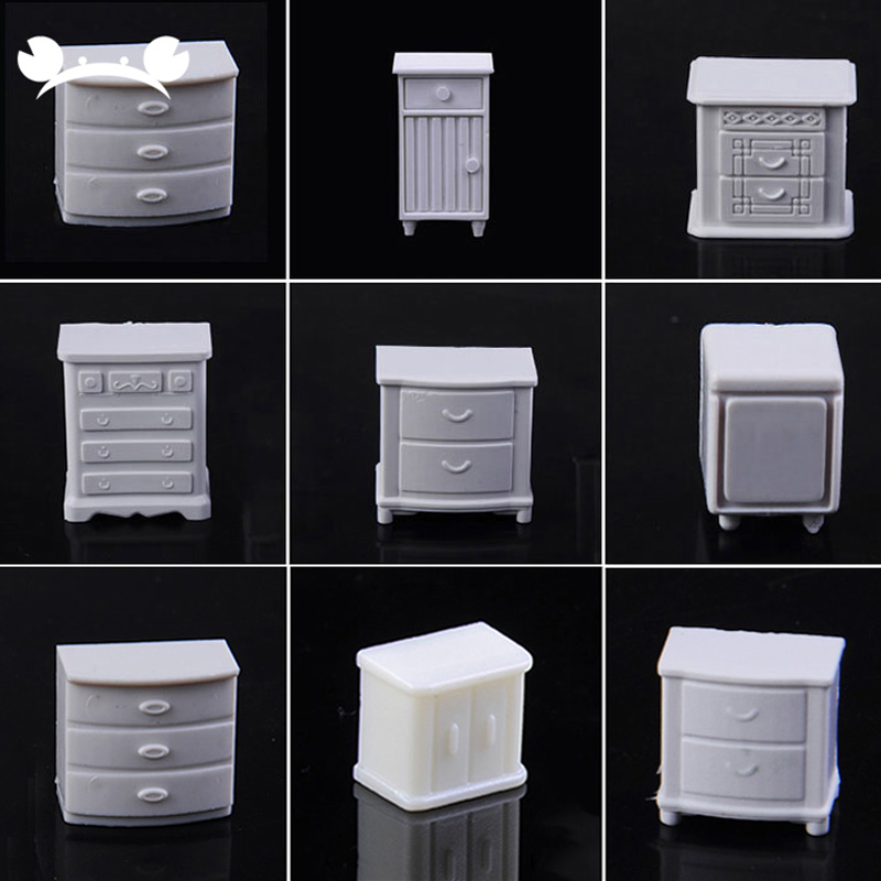 10pcs ABS Plastic Sand Table Model Making Scenery Indoor Furniture For Architecture 1/20-1/75 Scale