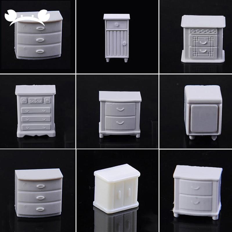 10pcs plástico ABS modelo de mesa de areia tornando cenário mobiliário de interiores para arquitetura de escala de 1/20-1/75