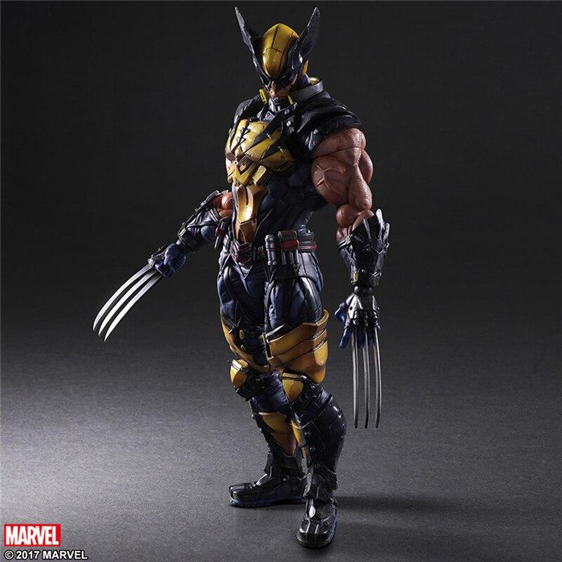 Играть искусств PA Marvel Мстители X-Для мужчин Wolverine фигурку игрушки Кукла Коллекция 11 26 см