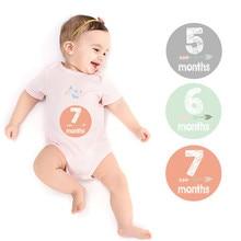 12 Pcs/set Newborn 12 Months Sticker Milestone Blanket with Marker& Milestone Cards for Baby Boy& Girl Applique Sticker
