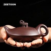 225cc Chinese Health Kung Fu Tea Set Authentic Yixing Purple Clay Teapot All Handmade Creative Home Decor Elephant Ru Yi Pot New