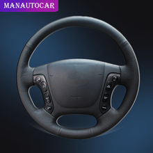 Car Braid On The Steering Wheel Cover for Hyundai Santa Fe 2007 2008 2009 2010 2011 2012 Auto Steering Wheel Covers Car-styling