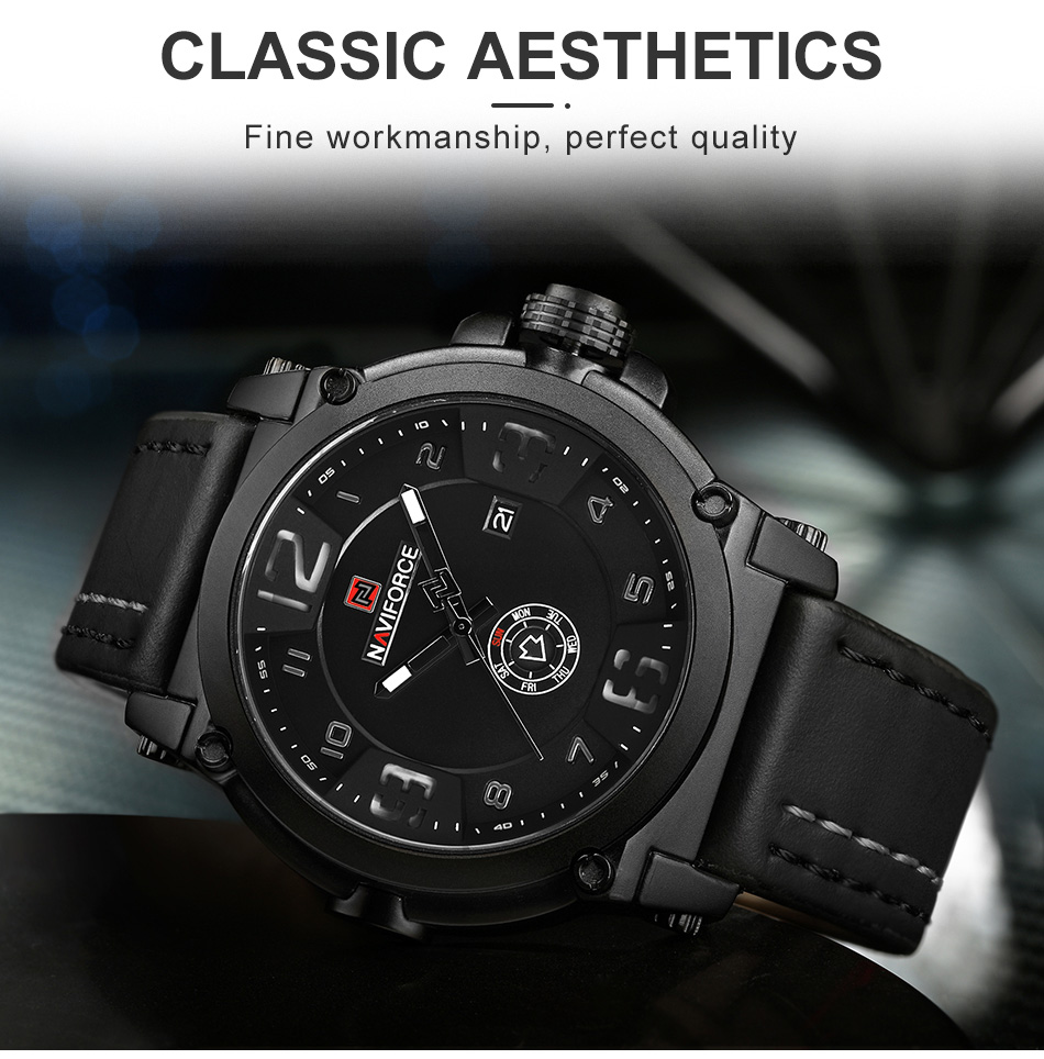 NAVIFORCE Top Luxury Brand Men Sports Military Quartz Watch Man Analog Date Clock Leather Strap Wristwatch Relogio Masculino HTB1pjKke21H3KVjSZFBq6zSMXXaY