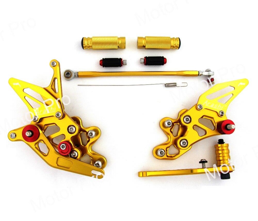 Регулируемый подножки для SUZUKI GSX-R 600 750 2006-2010 2007 2008 2009 ног Peg Rearset педаль GSX-R GSX R GSXR600 GSXR750 золото