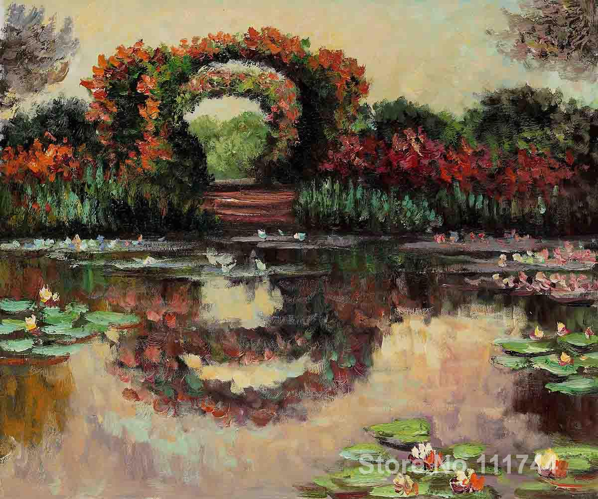 paintings for living room Blutentore in Giverny by Claude Monet Home art High quality Hand paintedpaintings for living room Blutentore in Giverny by Claude Monet Home art High quality Hand painted