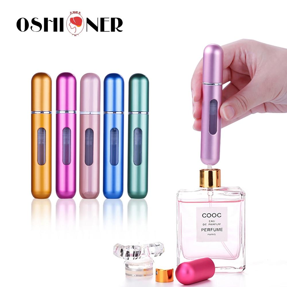 OSHIONER 5 мл/8 мл портативный мини многоразовый спрей для духов бутылка алюминиевый флакон с распылителем дорожный контейнер парфюмерная бутылка